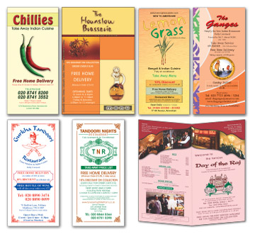 take away menu samples